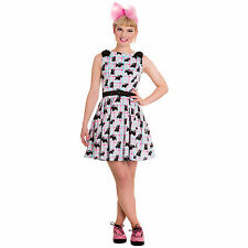 Hell Bunny Dress SCottie dog rockabilly XXS UK 6 Cute Kitsch