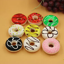 New Kawaii Donuts Soft Squishy Colorful Cell phone Charms Chain Cute Straps #p5