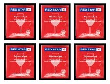 WINE YEAST 6 PK RS MONTRACHET RED STAR FOR REDS DARK BERRIES MUSCADINES GRAPES