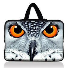 """Owl 17"""" 17.3"""" 17.4"""" Laptop Bag Notebook Sleeve Case Cover Pouch +Handle"""