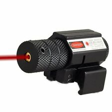 Tactical Laser 20mm Sight Red Dot Picatinny Weaver Rail Mount Pistol Gun Airsoft