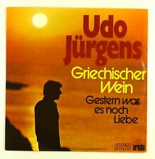 "7"" Single - Udo Jürgens - Griechischer Wein - #S1114 - washed & cleaned"