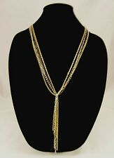 New Multi Strand Gold Silver Hematite Necklace with Chain Tassle #N2482
