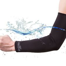 Outdoor Arm Sleeves Cover UV Sun Protection for Cycling Basketball Black