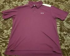 Oakley COLOR BLOCK Purple White Black Golf Shirt