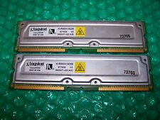 512MB (2x 256MB) Kingston PC800  KVR80018/256 RIMM RAMBUS RDRAM