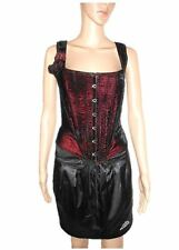 SHIRLEY OF HOLLYWOOD USA Ladies Vtg Velvet Victorian Fashion Bustier sz M AC11