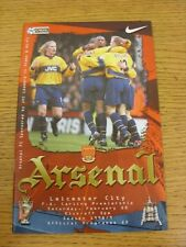 20/02/1999 Arsenal v Leicester City  (Excellent Condition)