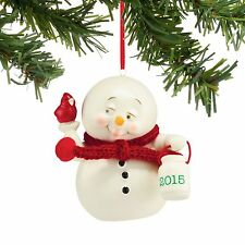 Dept 56 Snowpinions New FOR THE BIRDS,2015 DATED SNOWMAN Ornament 4045209