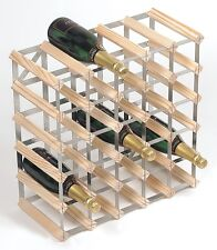 RTA 30 Bottle Traditional Wooden Wine Rack Natural / Dark / Black Ash Pine