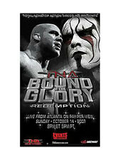 """Official TNA Impact Wrestling Bound for Glory 2007 38""""x24"""" PPV Poster"""