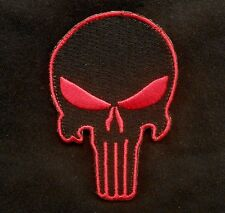 PUNISHER SKULL ARMY MILSPEC AIRSOFT ISAF RED SWAT VELCRO® BRAND FASTENER PATCH