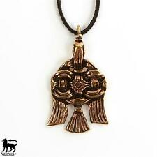 Bronze Viking Raven Pendant -- Norse/Slavic/Russian/Medieval/Skyrim/Jewelry/Gold