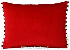 Red Satin Designers Guild Franchini Silk Trim Fabric Cushion Pillow Cover