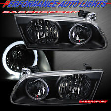 2000-2001 TOYOTA CAMRY BLACK HOUSING ANGEL EYE HALO HEADLIGHTS PAIR