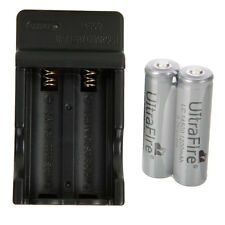 2X LC 14500 1200mAh 3.7V Rechargeable Li-ion Battery Gray+US Dual Smart Charger