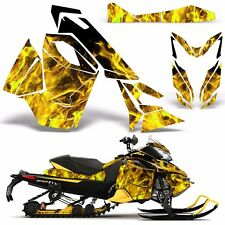 Decal Graphic Wrap Kit Ski Doo Sled Snowmobile REV XS Renegade MXZ 13+ ICE YLLW