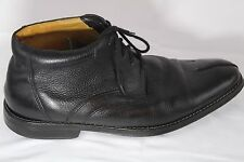 SANDRO MOSCOLINI Size 10 D Men's Black Leather Lace Up Ankle Casual Dress Boots