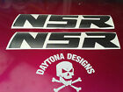 NSR CUSTOM BLACK DECALS GRAPHICS STICKERS FAIRING PANEL