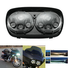 Black LED Headlight Projector Daymaker Lamp For Harley Road Glide 2003-2013
