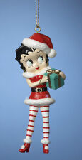 KURT S. ADLER BETTY BOOP™ WEARING SANTA SUIT AND HOLDING GIFT CHRISTMAS ORNAMENT