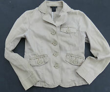 women's THE LIMITED tan fitted short trench jacket coat XS