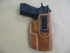 CZ 75 SP01 IWB Leather In The Waistband Concealed Carry Holster TAN RH