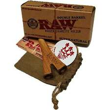 RAW Supernatural Double Barrel Wooden Cigarette Holder - Includes SMO-KING slap