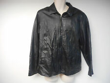 Woman's Trump Taj Mahal Black Leather Short Jacket Size XL