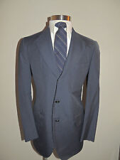VINTAGE H. FREEMAN & SON BLUE PINSTRIPE WOOL BLEND 3 BUTTON SPORT COAT 40R