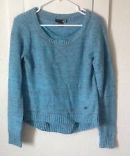 Fox Racing Women's Throwback Crop Sweater In Frost Blue Size MED