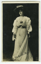 c 1905 British Edwardian Theater GABRIELLE RAY Fashion Dress photo postcard