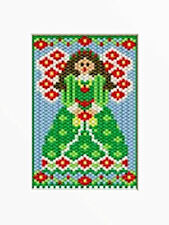 Victorian Christmas Angel Beaded Banner Pattern