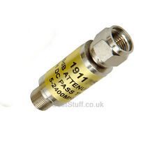 Labgear 6dB Inline Satellite Attenuator F connector Male to Female