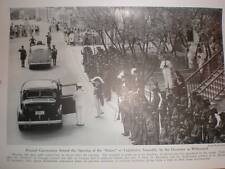 Antilles Curacao Willemstad Opening of States 1943 printed photograph