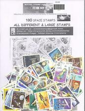 SPACE / ROCKETS Theme wise CTO stamps pack of 100 Different Stamps All Large