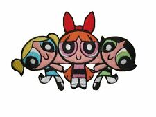 Embroidered POWERPUFF GIRLS Iron On Patch 5  x 3 inches (12.5 x 8 cm)
