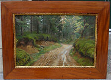 Seligmann. A Dirt Road through a Forest. Dated 1897. Antique salon oil.