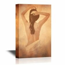wall26 - Canvas Wall Art - Back View of a Sexy Woman - Ready to Hang - 12x18