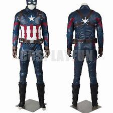 New Captain America 3 Civil War Steven Rogers Cosplay Costume Full Set