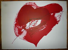 Paul Rebeyrolle Lithographie originale signée le coeur art abstrait abstraction