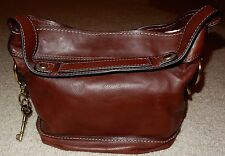 Fossil 54 Fifty Four Brown Leather Handbag Purse GOOD Condition