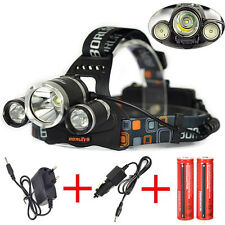 9000Lm XM-L T6+2R5 LED Headlamp 4Modes Headlight Head Torch Light Rechargeable