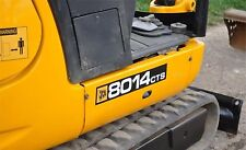 JCB 8014CTS MINI ESCAVATORE DECALCOMANIA SET CON SICUREZZA AVVERTIMENTO