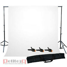 Photo Studio Background Support Stand Free White Backdrop Carrybag Free 3 Clamps