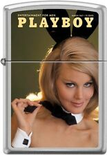 Zippo Playboy March 1967 Cover Satin Chrome Windproof Lighter NEW RARE