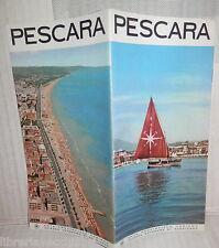 vecchio depliant turistico PESCARA EPT Itinerari Viaggi Turismo Storia Adriatico