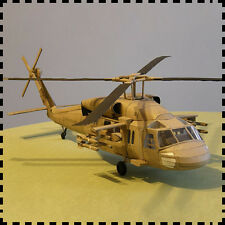 3D DIY Paper Model Kit 1/33 Scale US Army Black Hawk Sikorsky UH-60 Helicopter