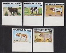 MALI #411-415 IMPERFORATE Mint, Never Hinged 1981 CATTLE BREEDS