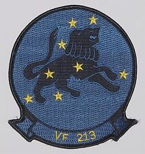 "Us navy écusson patch vf 213 Fighter escadrille ""Black Lion 's""... a2540"